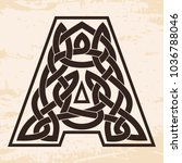 letter of the english alphabet... | Shutterstock .eps vector #1036788046