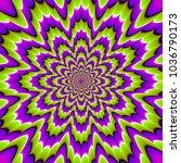 green and purple  flower... | Shutterstock .eps vector #1036790173