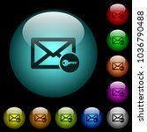 secure mail icons in color... | Shutterstock .eps vector #1036790488