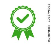 green icon approved or...   Shutterstock .eps vector #1036795036