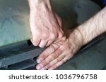 opening bonnet of car by... | Shutterstock . vector #1036796758