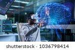 in near future laboratory... | Shutterstock . vector #1036798414
