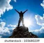 Man On Top Of Mountain....