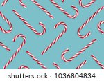 pattern of hard candy cane...   Shutterstock . vector #1036804834