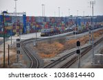 Small photo of Greer,SC/USA-January 16 2018: An aerial view of SC Port Authority Inland Port Greer is shown on January 16 2018.This rail head is 212 miles inland from the Port of Charleston and reduces I-26 traffic.