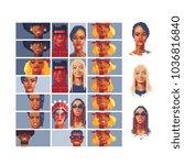 pixel art style video game... | Shutterstock .eps vector #1036816840