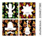 viva mexico traditional card | Shutterstock .eps vector #1036817380