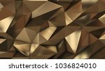 gold abstract low poly triangle ...   Shutterstock . vector #1036824010