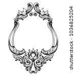 baroque frame decor vector.... | Shutterstock .eps vector #1036825204