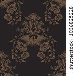 vintage damask pattern antique... | Shutterstock .eps vector #1036825228
