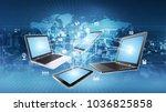 internet and information... | Shutterstock . vector #1036825858
