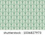 vector repeat abstract green... | Shutterstock .eps vector #1036827973