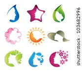 set of beauty icons | Shutterstock .eps vector #103682996