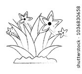 garden flower cultivated icon | Shutterstock .eps vector #1036830658