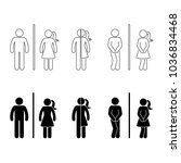 toilet male and female icon.... | Shutterstock . vector #1036834468