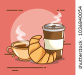 delicious coffee time elements | Shutterstock .eps vector #1036840054