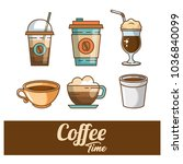 delicious coffee time elements | Shutterstock .eps vector #1036840099
