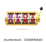 slot machine with text slot... | Shutterstock .eps vector #1036840660