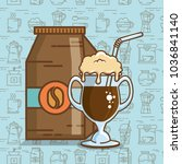 delicious coffee time elements | Shutterstock .eps vector #1036841140