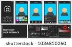 dark modern phone photo and... | Shutterstock .eps vector #1036850260