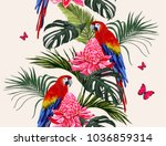 beautiful seamless vector... | Shutterstock .eps vector #1036859314