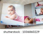 high angle view open book with... | Shutterstock . vector #1036860229