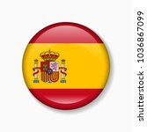 spain flag round badge or icon... | Shutterstock .eps vector #1036867099