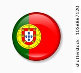 portugal flag round badge or... | Shutterstock .eps vector #1036867120