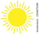 sun yellow icon vector ...   Shutterstock .eps vector #1036870180