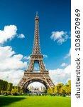 eiffel tower paris | Shutterstock . vector #1036870969