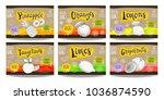 set colorful food labels ... | Shutterstock .eps vector #1036874590