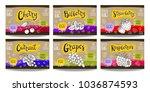 set colorful food labels ...   Shutterstock .eps vector #1036874593