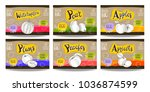 set colorful food labels ... | Shutterstock .eps vector #1036874599