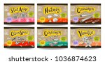 set colorful food labels ... | Shutterstock .eps vector #1036874623
