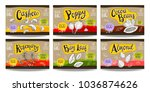 set colorful food labels ... | Shutterstock .eps vector #1036874626