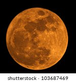 Full Moon Closeup Showing The...