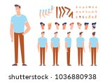 front  side  back  3 4 view... | Shutterstock .eps vector #1036880938