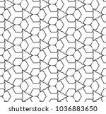 geometric ornamental vector... | Shutterstock .eps vector #1036883650