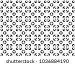 seamless crescent pattern... | Shutterstock .eps vector #1036884190