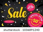 sale banner layout design | Shutterstock .eps vector #1036891240