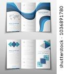 blue fold set technology annual ... | Shutterstock .eps vector #1036891780