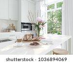 breakfast in a nice kitchen...   Shutterstock . vector #1036894069