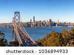 san francisco skyline and bay... | Shutterstock . vector #1036894933