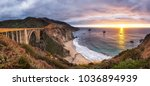 bixby creek bridge on highway 1 ... | Shutterstock . vector #1036894939