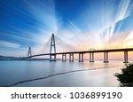 sea bridge at dusk and fantasy... | Shutterstock . vector #1036899190