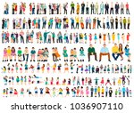 vector collection isometric people, flat style | Shutterstock vector #1036907110