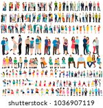 collection isometric people ... | Shutterstock .eps vector #1036907119