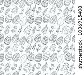 seamless pattern with easter... | Shutterstock .eps vector #1036915408