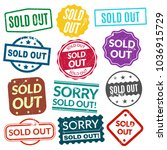 sold out stamps. stamping... | Shutterstock .eps vector #1036915729
