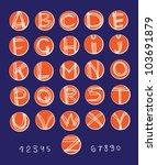 vector alphabet. white painted...   Shutterstock .eps vector #103691879
